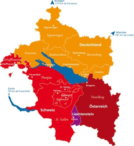 Bodensee Karte Schweiz.Die Regionenmarke Vierlanderregion Bodensee